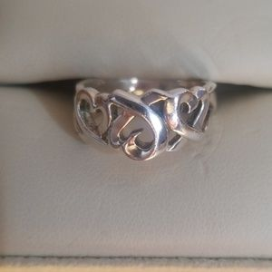 Vintage Tiffany & Co Triple Heart Ring